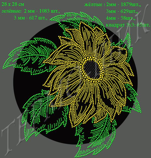 Рисунок-схема для выкладки стразами