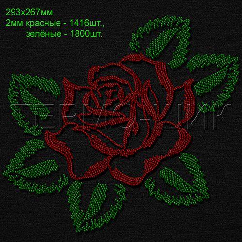 Рисунки из страз цветы 44