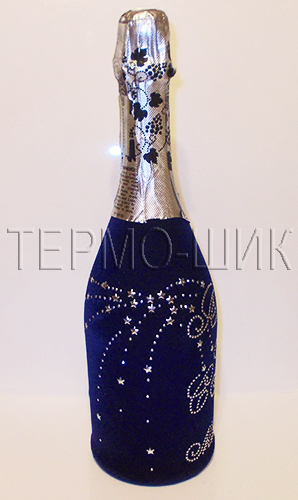 Бутылки со стразами своими руками 27